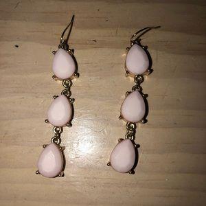 Women's pink drop earrings